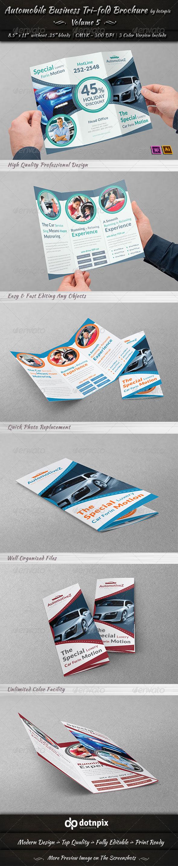 GraphicRiver Automobile Business Tri-Fold Brochure Volume 5 7715166
