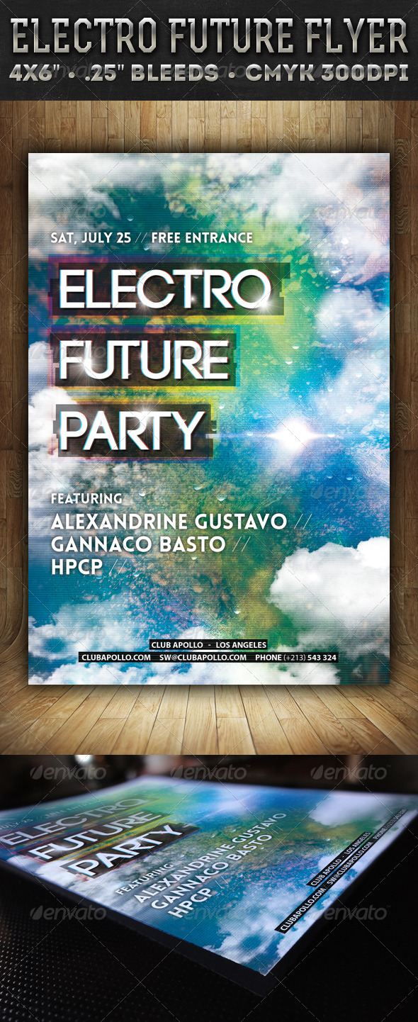 GraphicRiver Electro Future Party Flyer 7715204