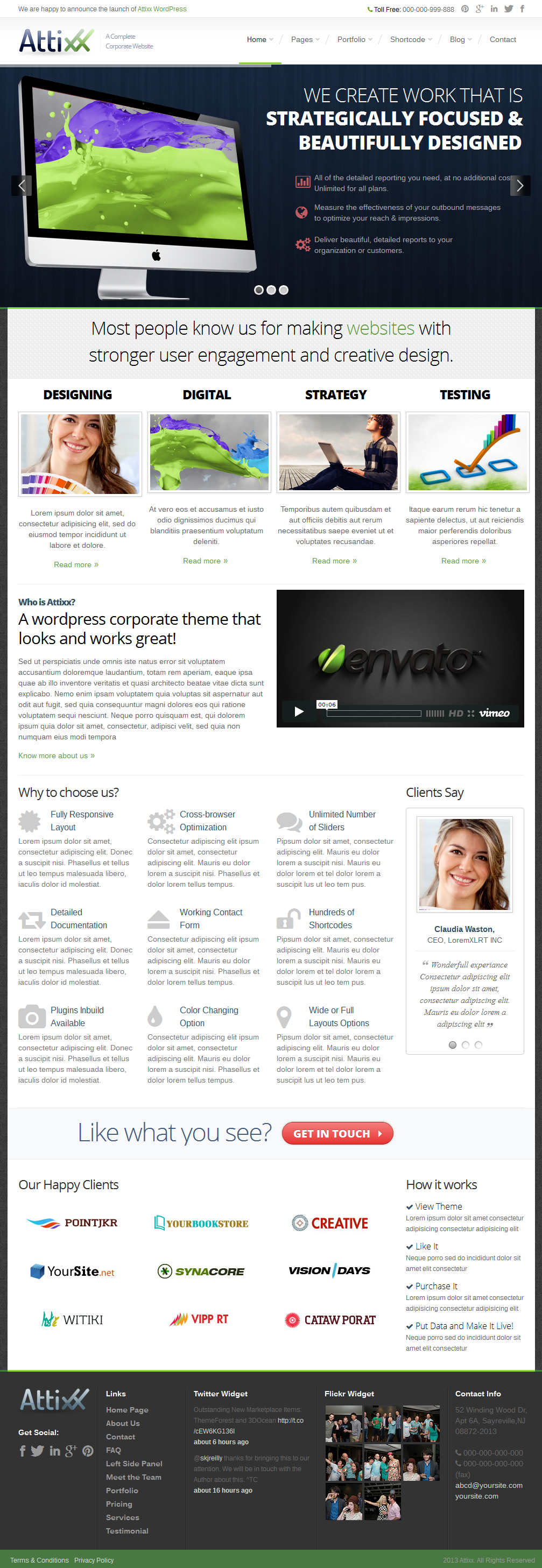 Attixx - Responsive Corporate WordPress Theme