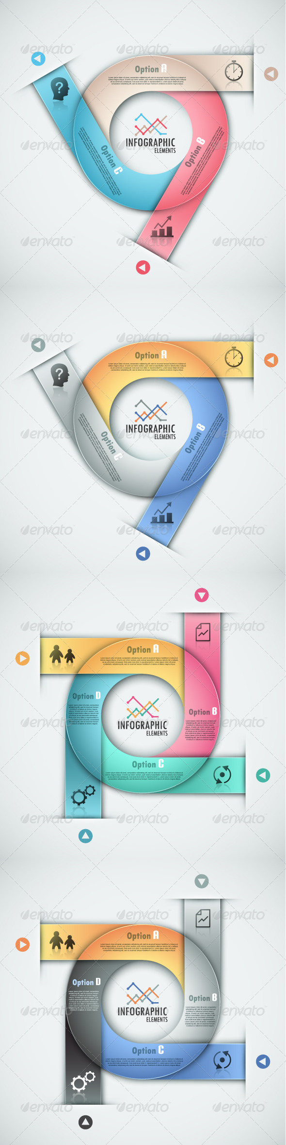 GraphicRiver Modern Infographic Options Banner 4 Versions 7715972