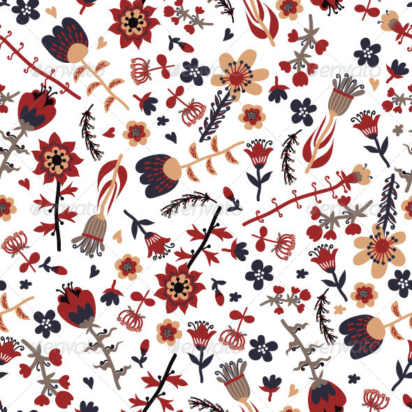GraphicRiver Floral Pattern 7715991