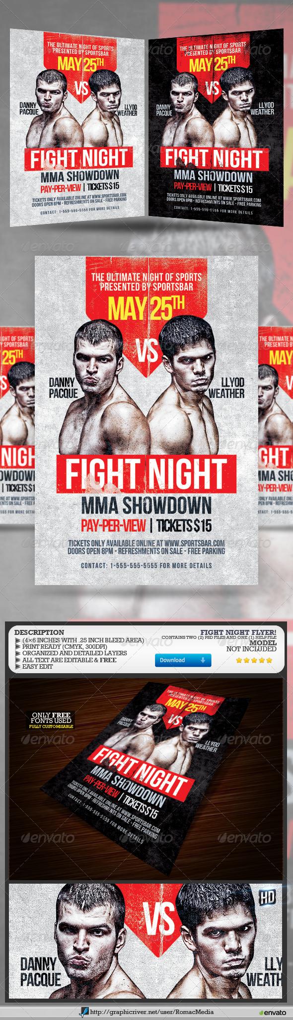 GraphicRiver Fight Night 7716052