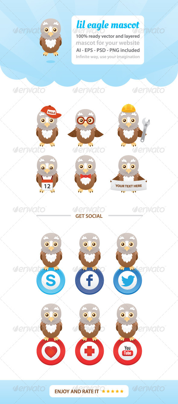 GraphicRiver Lil Eagle Mascot 7703716