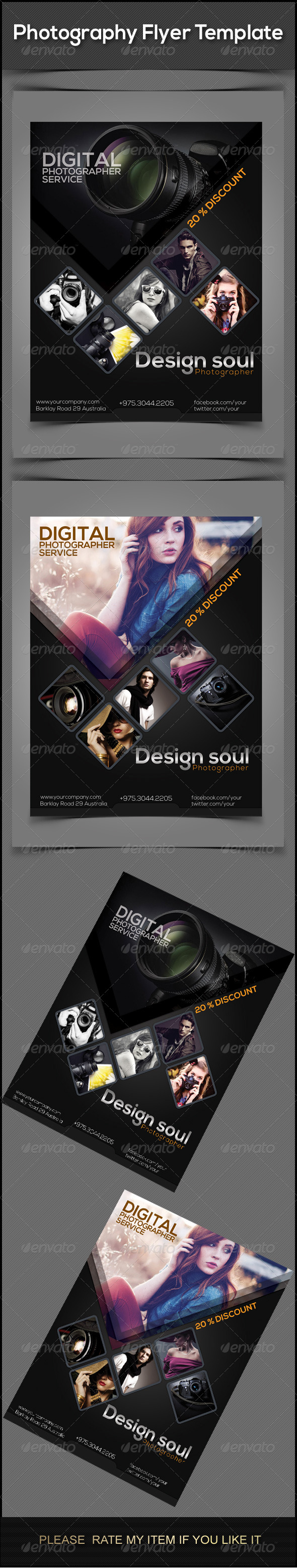 GraphicRiver Photography Flyers 7674998