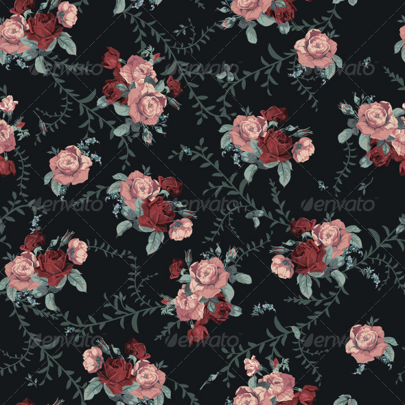 GraphicRiver Roses Pattern 7716723