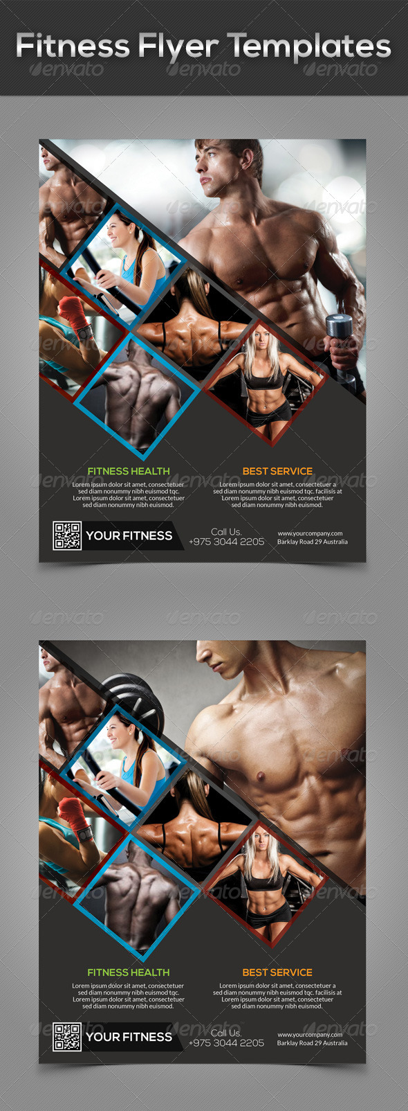 GraphicRiver Fitness Flyer Templates 7716817
