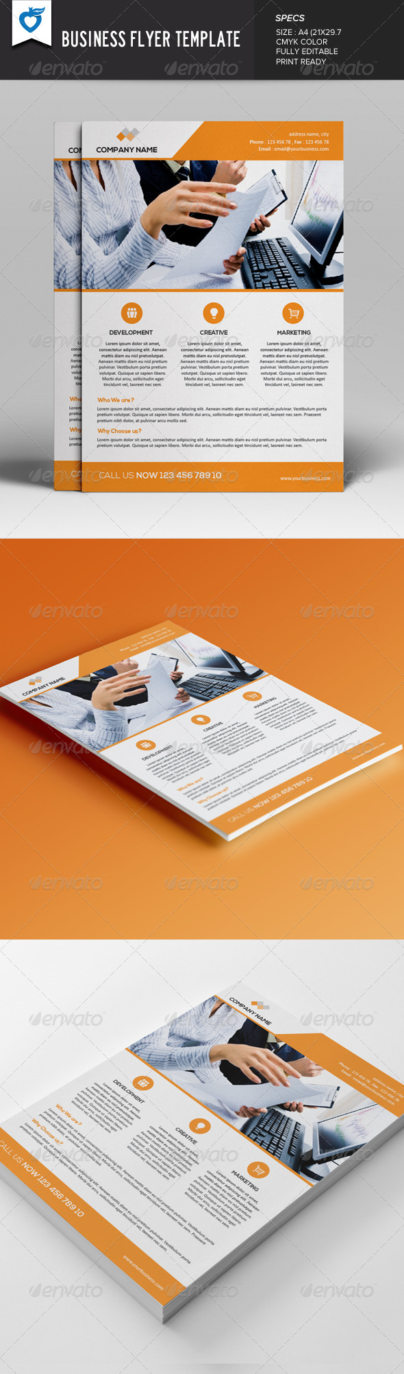 GraphicRiver Business Flyer Template v2 7716893