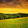 sunset above the national park Sumava - PhotoDune Item for Sale