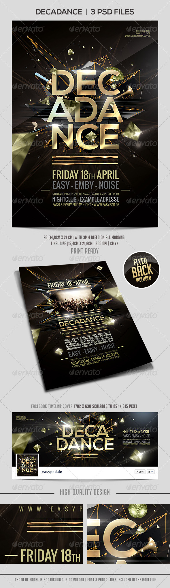 GraphicRiver Decadance Flyer Template 7686755