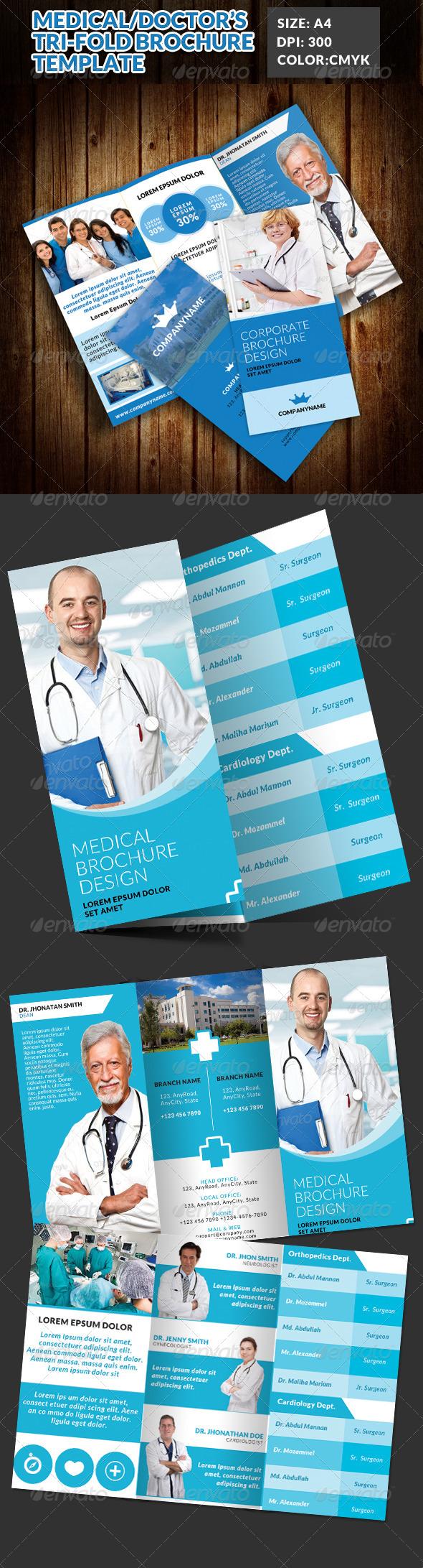 GraphicRiver Doctor Medical Hospital Health Tri-Fold Brochure 2 7717261