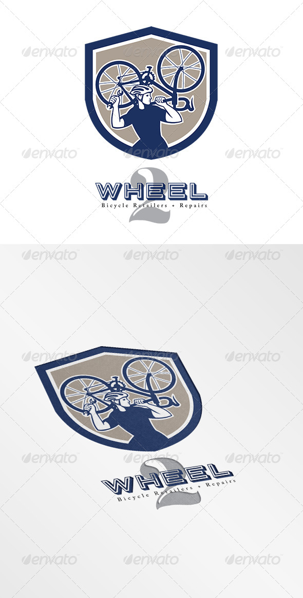 GraphicRiver Wheel Bicycle Retailers and Repair Logo 7717329