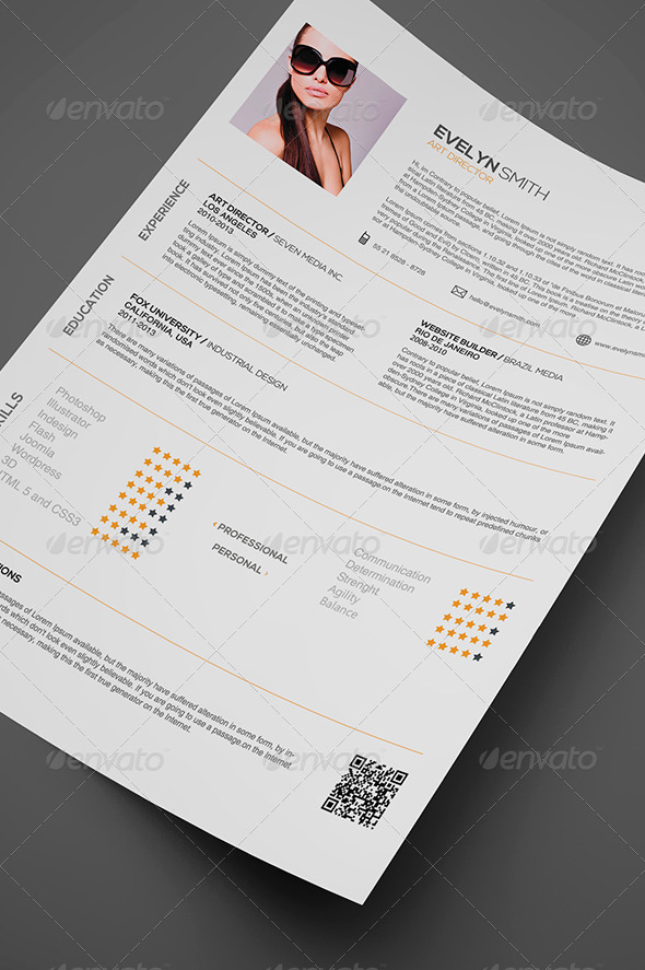 GraphicRiver Simple Resume 7717343