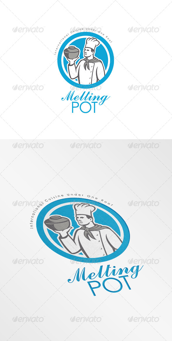 GraphicRiver Melting Pot International Cuisine Logo 7717349