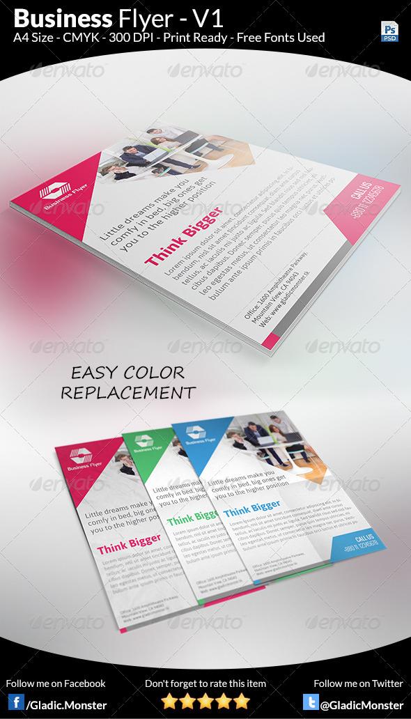 GraphicRiver Business Flyer V1 7717380
