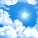 Bright Sky With Sun and Clouds - GraphicRiver Item for Sale