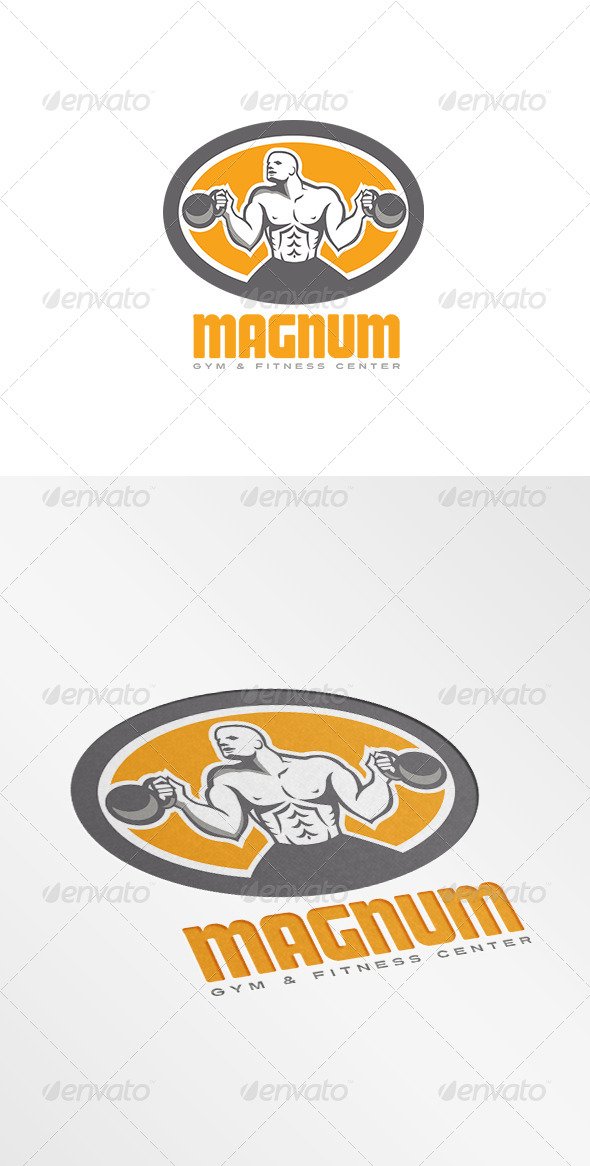 GraphicRiver Magnum Gym and Fitness Center Logo 7717385
