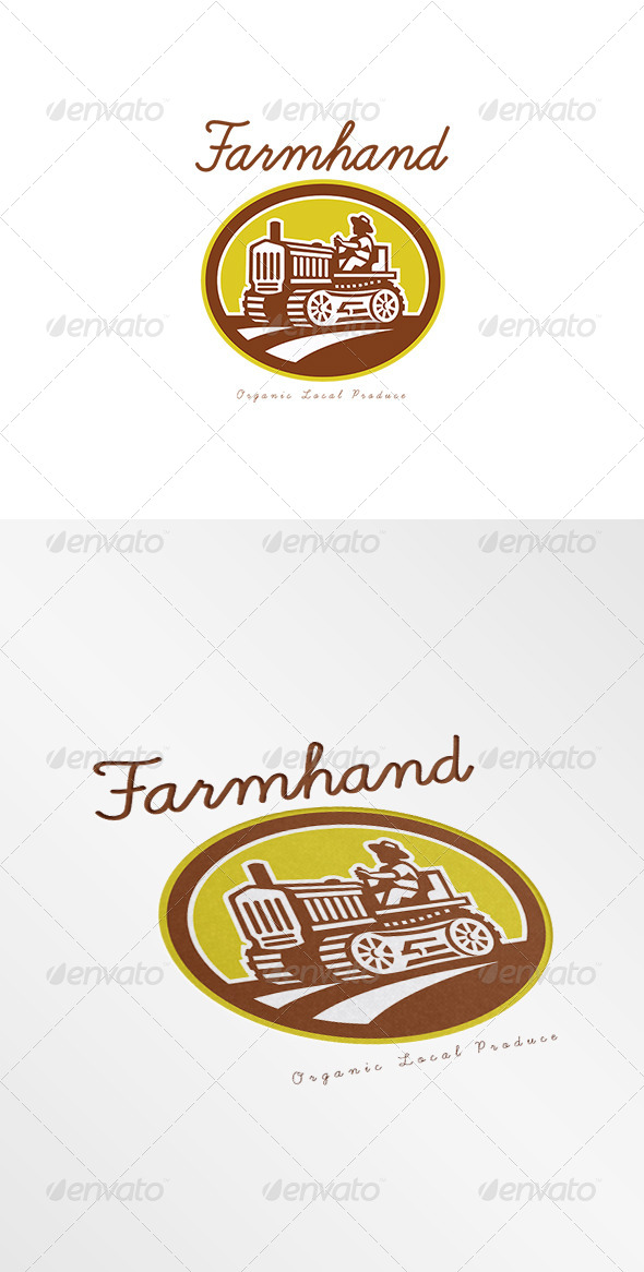 GraphicRiver Farmhand Local Organic Producer Logo 7717405