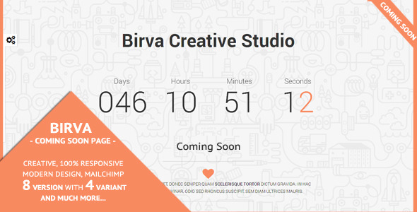 Birva - Creative Coming Soon Theme