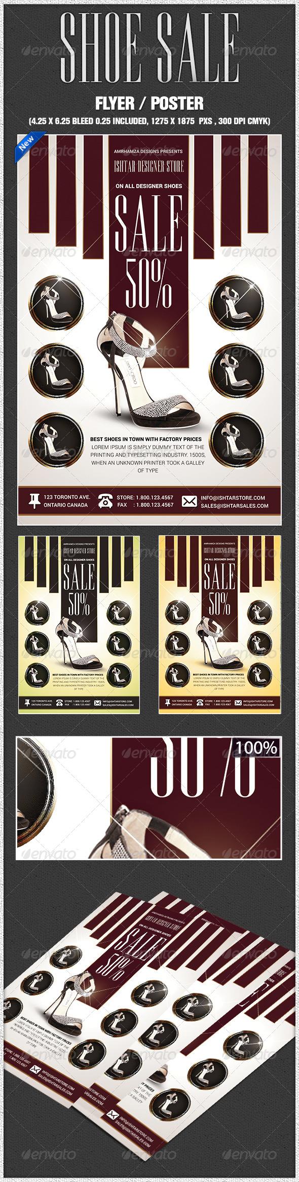 GraphicRiver Women Shoe Sale Flyer 7717417