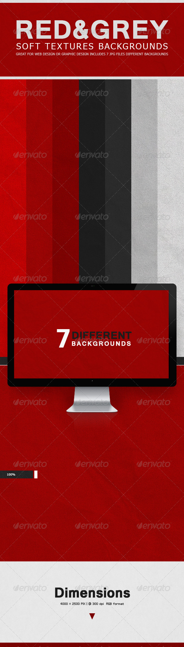 GraphicRiver Soft Textures Backgrounds Red & Grey 7717957