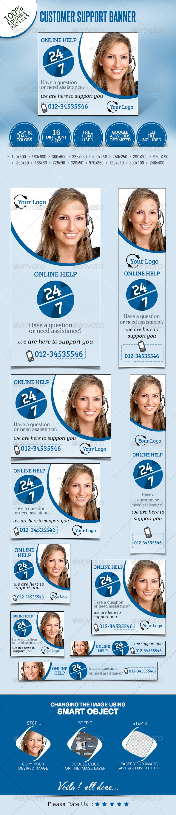 GraphicRiver Customer Service Banners 7718002