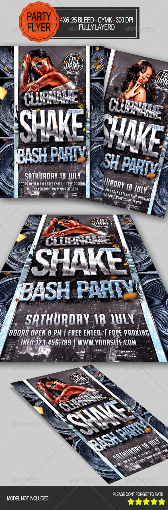 GraphicRiver Shake Bash Party Flyer 7718006