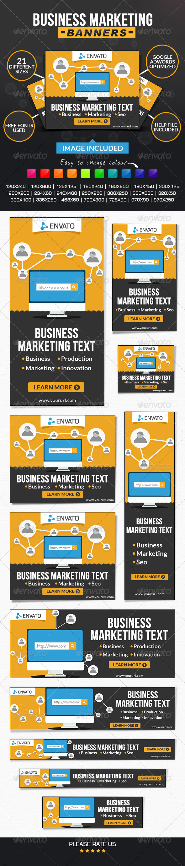 GraphicRiver Business & Marketing Banners 7718008