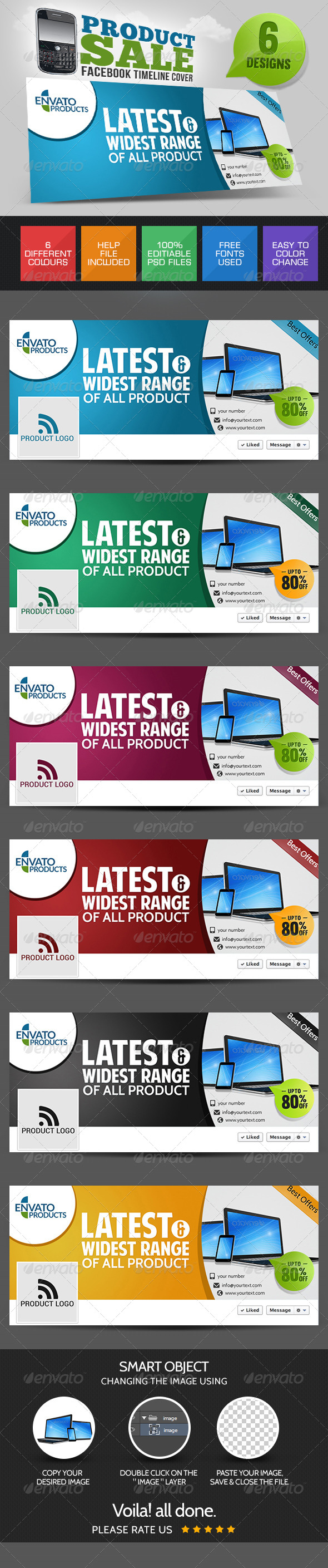 GraphicRiver Product Sale Facebook Cover Page 7718013