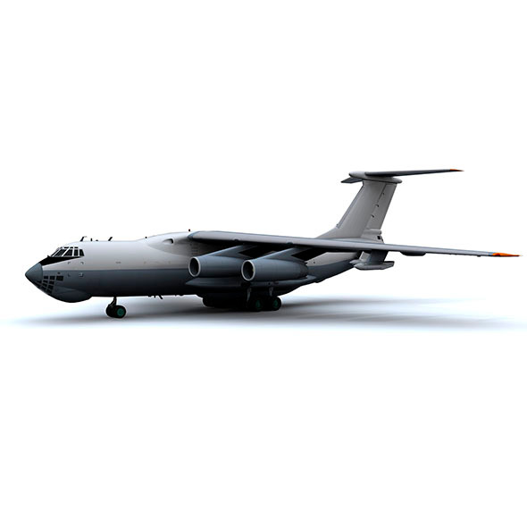 military aircraft hi poly animated