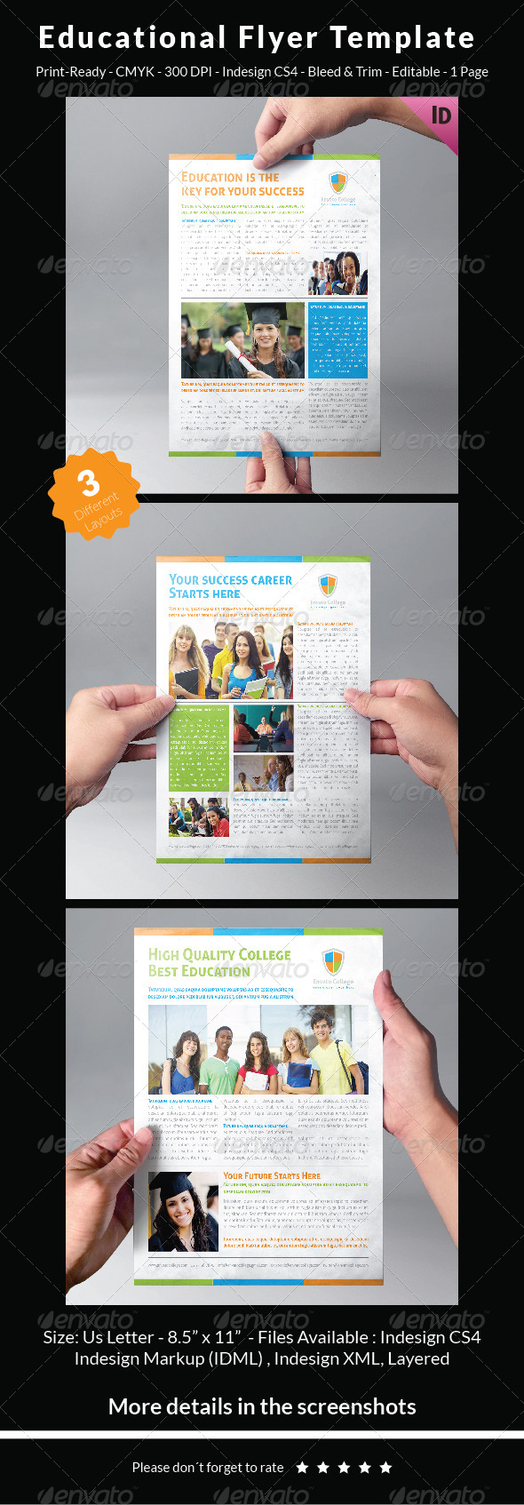 GraphicRiver Educational Flyer Template 7718140