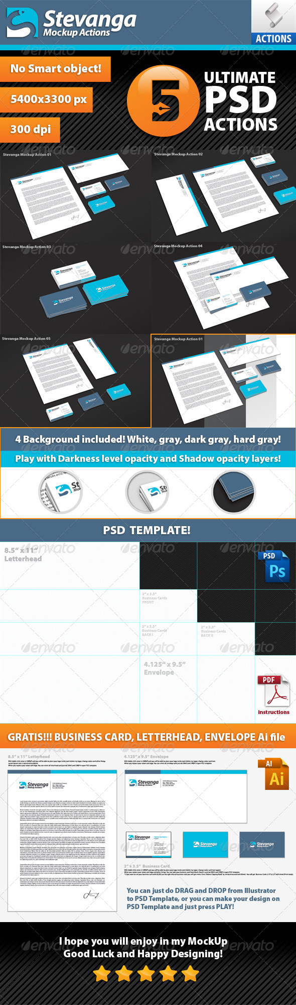 GraphicRiver Stevanga Mockup Actions 7718338