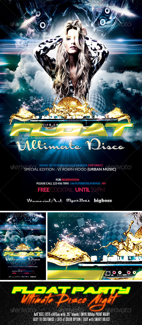 GraphicRiver Float Party Flyer 7718375