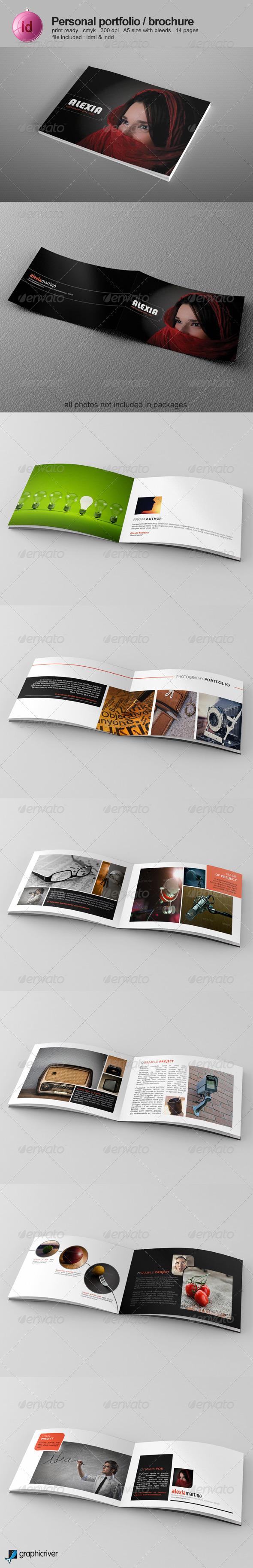 GraphicRiver Personal Portfolio Brochure 7718422