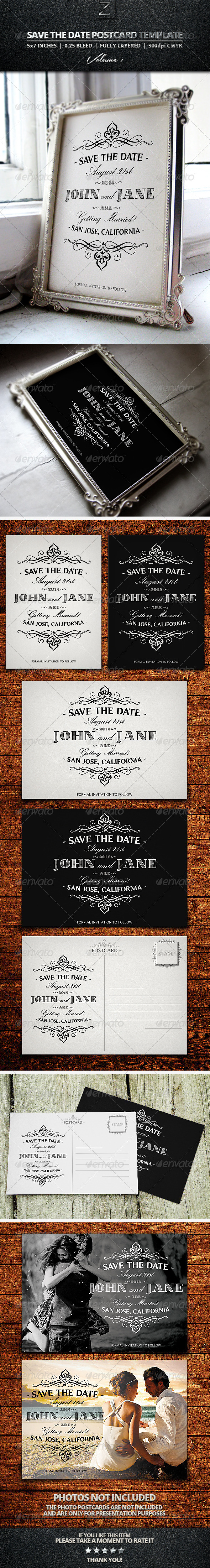 GraphicRiver Save The Date Postcard Templates Vol.1 7718675