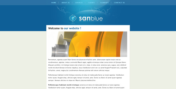 ThemeForest Sanblue 32805