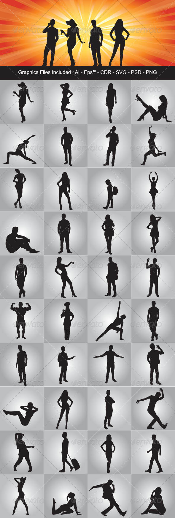 GraphicRiver People Silhouettes 7718731