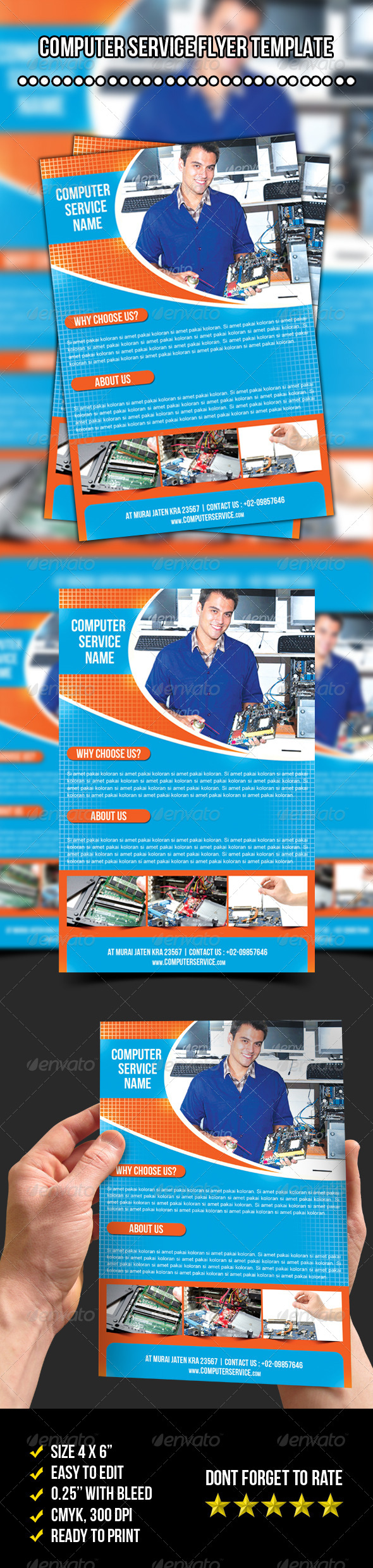 GraphicRiver Computer Service Flyer 7719143