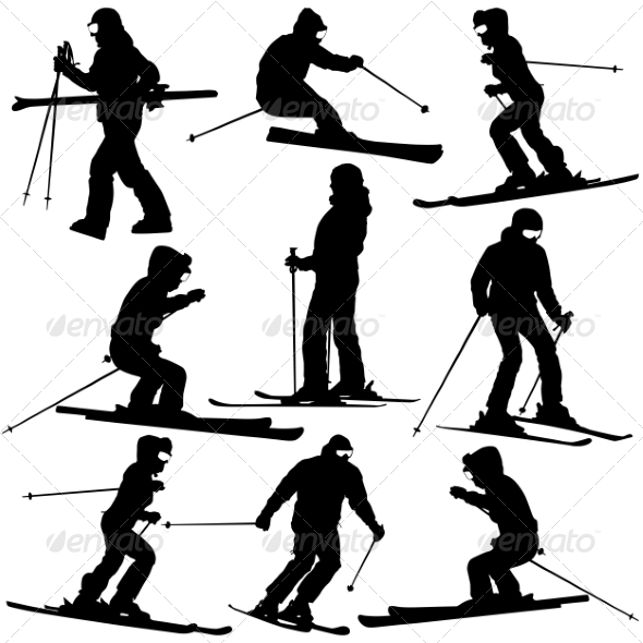GraphicRiver Women Skiing 7719759