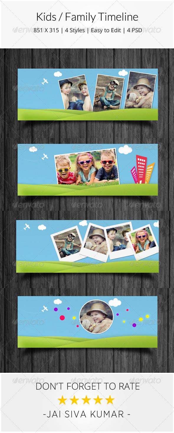 GraphicRiver Kids Family Facebook Timeline 7720226