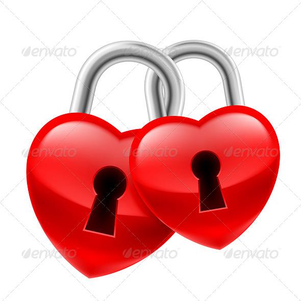 GraphicRiver Heart Locks 7720365