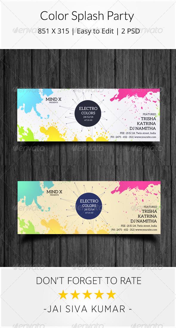 GraphicRiver Color Splash Party Timeline 7720367