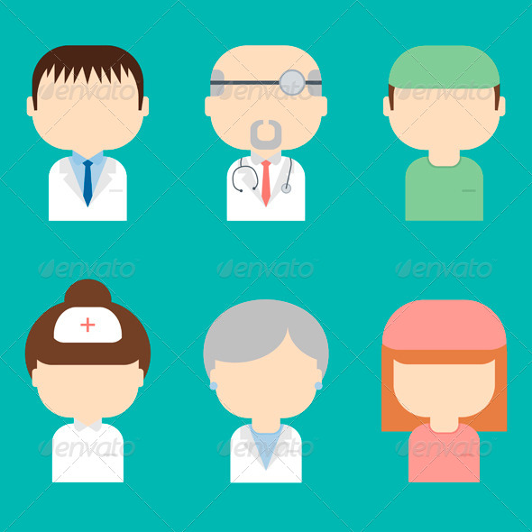 GraphicRiver Set of Medical Character Icons 7720605