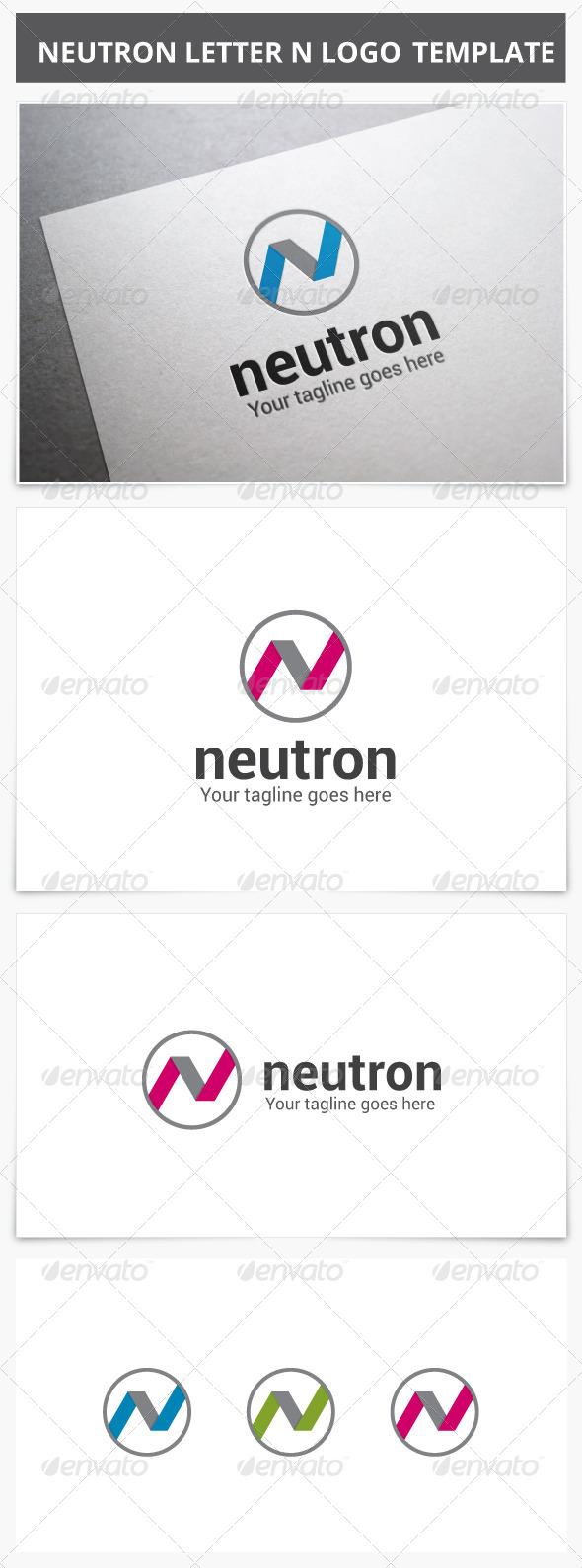 GraphicRiver Neutron Letter N Logo 7720609