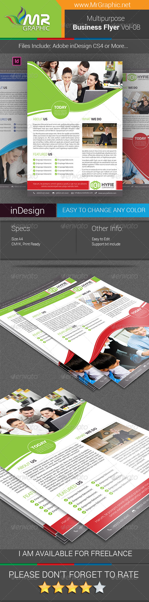 GraphicRiver Multipurpose Business Flyer Vol-08 7720616
