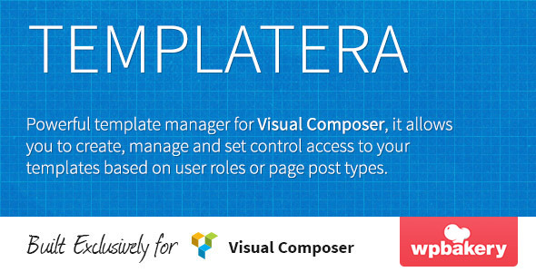 Templatera - Template Manager for Visual Composer - CodeCanyon Item for Sale