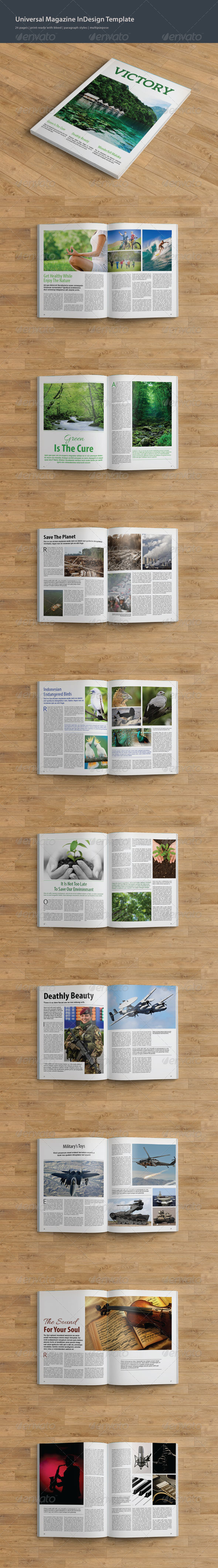 GraphicRiver Universal Magazine InDesign Template 7721075