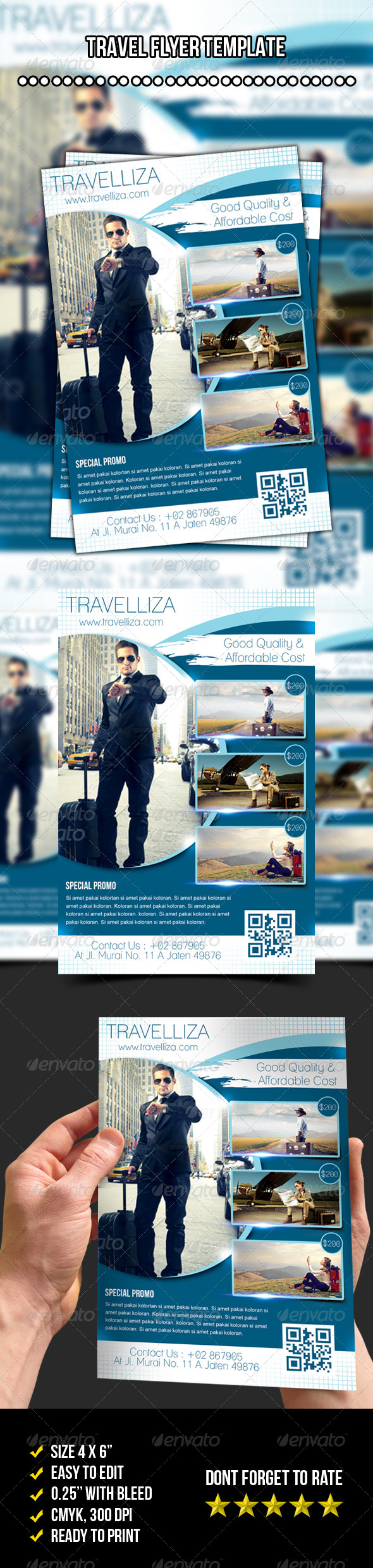 GraphicRiver Travelliza Flyer Travel Flyer Template 7721079