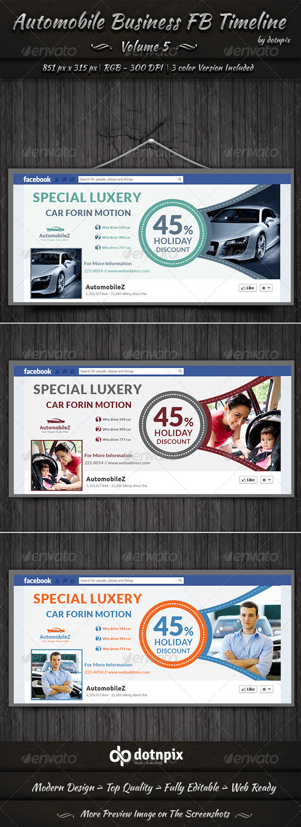 GraphicRiver Automobile Business FB Timeline Volume 5 7721408