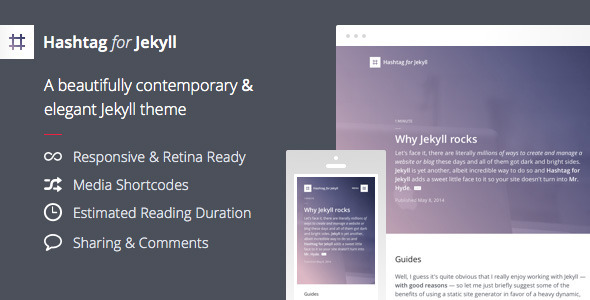 ThemeForest Hashtag for Jekyll An Elegant Blog Theme 7721454