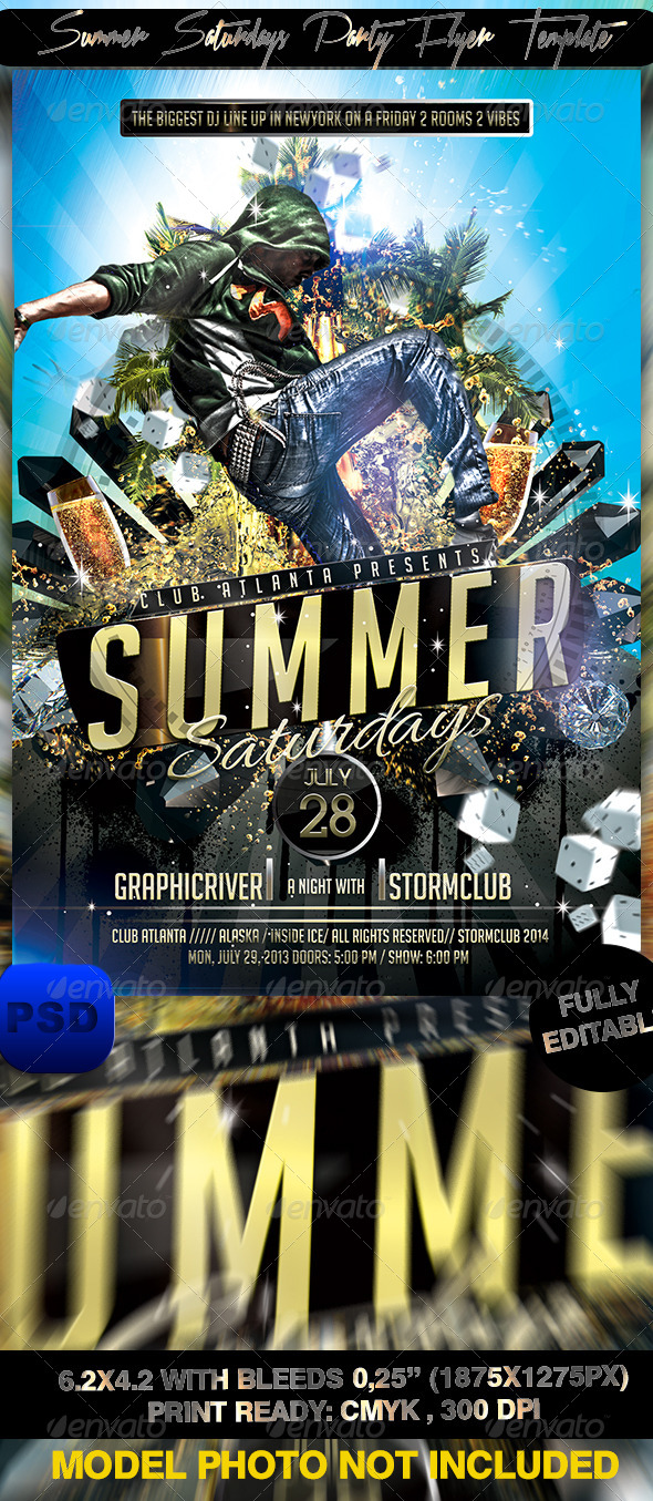 GraphicRiver Summer Saturdays Party Flyer Template 7688935